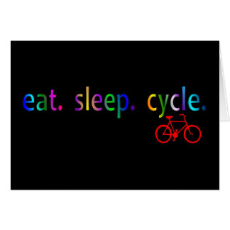 eat sleep cycle Bicycle Rider Gifts Card