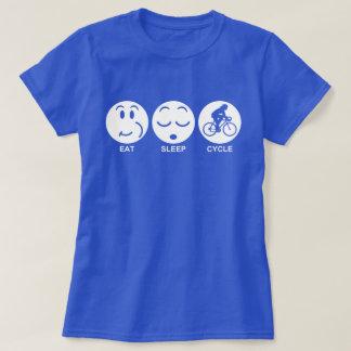 Eat Sleep Cycle (female) T-Shirt