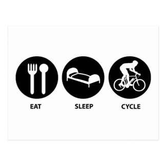 Eat Sleep Cycle Postcard