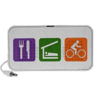 Eat Sleep Cycling iPod Speakers