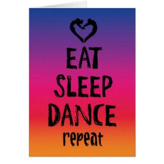 Eat, Sleep, Dance Card