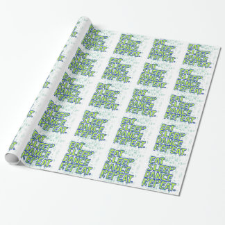 eat sleep dance repeat wrapping paper