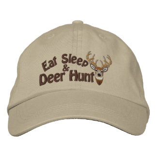 Eat Sleep Deer Hunt White Tail Embroidery Embroidered Hat