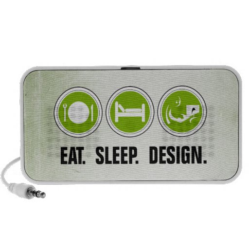 Eat Sleep Design (green) Notebook Speakers