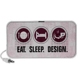 Eat Sleep Design (pink) Speaker