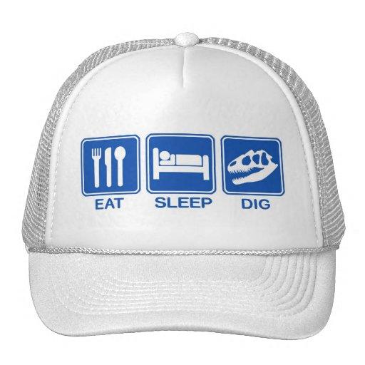 EAT, SLEEP, DIG TRUCKER HAT