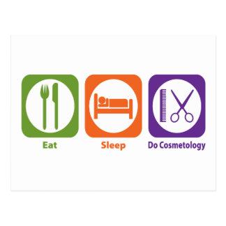 Eat Sleep Do Cosmetology Postcard