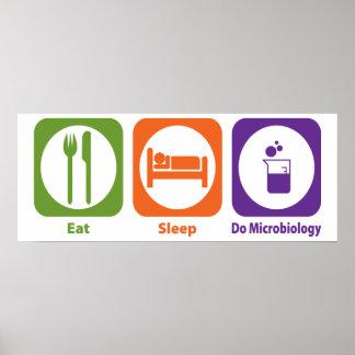 Eat Sleep Do Microbiology Poster