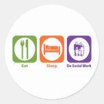 Eat Sleep Do Social Work Sticker