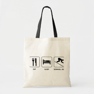 Eat Sleep Downhill Ski Tote Bags
