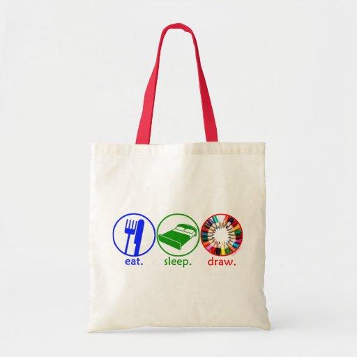 Eat Sleep Draw Budget Tote Bag