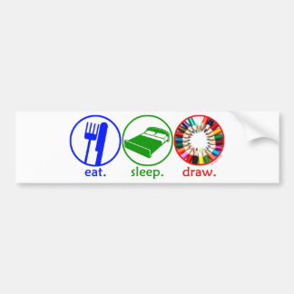 Eat Sleep Draw Bumper Sticker