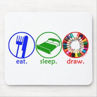 Eat Sleep Draw Mouse Pads