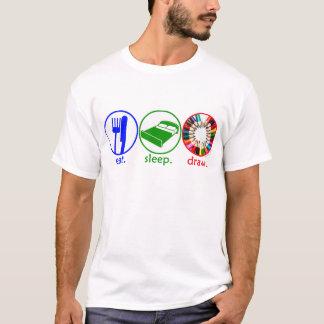 Eat Sleep Draw T-Shirt