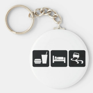 Eat Sleep Drift Basic Round Button Key Ring