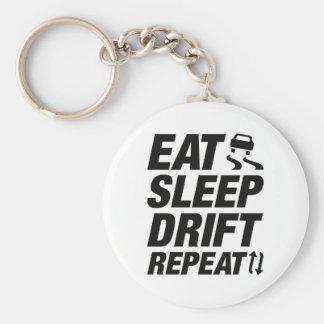 Eat Sleep Drift Repeat Basic Round Button Key Ring