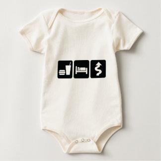 Eat Sleep Drive Hard Baby Bodysuit