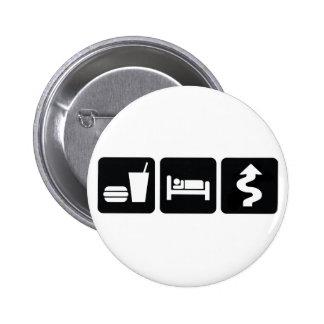 Eat Sleep Drive Hard Pin