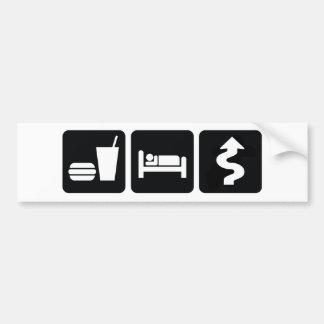 Eat Sleep Drive Hard Bumper Sticker