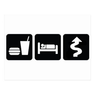 Eat Sleep Drive Hard Postcard