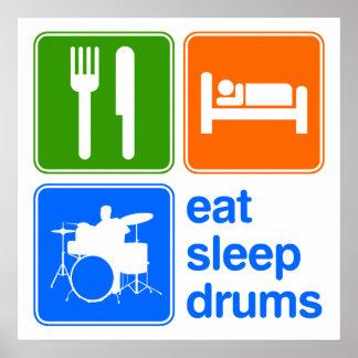Eat Sleep Drums Poster