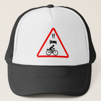 """Eat. Sleep. eBike"" custom cycling hats"