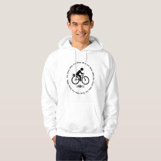 """Eat sleep eBike"" custom hoodies for men"