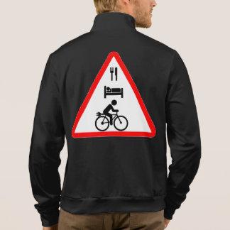"""Eat. Sleep. eBike"" cycling jackets for men"