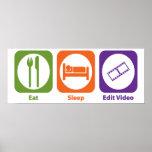 Eat Sleep Edit Video Posters