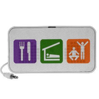 Eat Sleep Exercise Portable Speaker