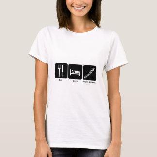 Eat sleep facebook T-Shirt