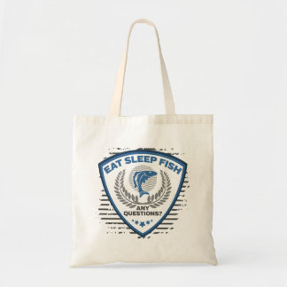 Eat Sleep Fish Any Questions Fishing Tote Bag