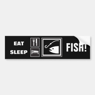 Eat Sleep FISH! Car Bumper Sticker