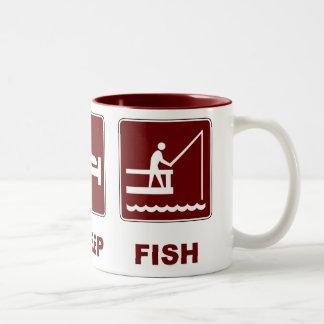 Eat Sleep Fish fishing gifts Coffee Mug