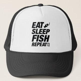 Eat Sleep Fish Repeat Trucker Hat