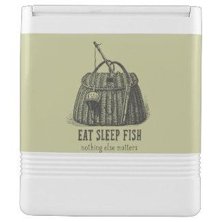 Eat Sleep Fish Vintage Tackle Box Cooler