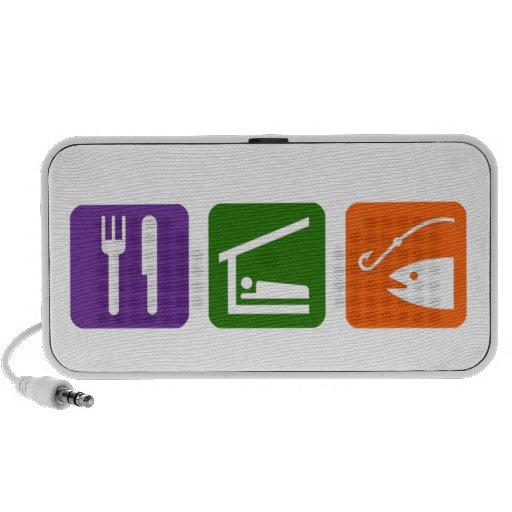 Eat Sleep Fishing Travelling Speaker