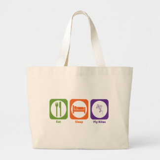 Eat Sleep Fly Kites Large Tote Bag