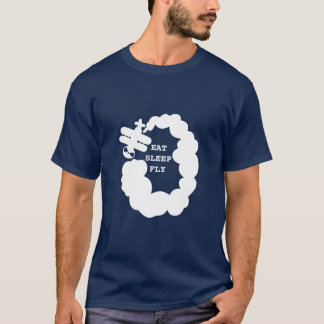 Eat sleep fly t shirt | airplane pilot gift idea