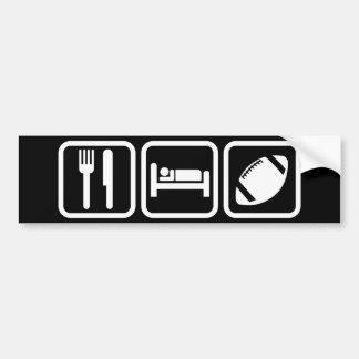 Eat Sleep Football Bumper Sticker