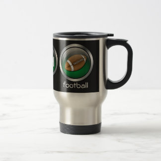 Eat Sleep Football :: Travel Mug