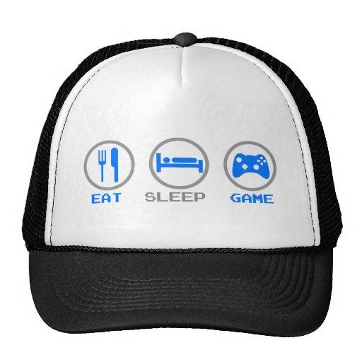 Eat Sleep Game Again - Gamer, geek video games Mesh Hat