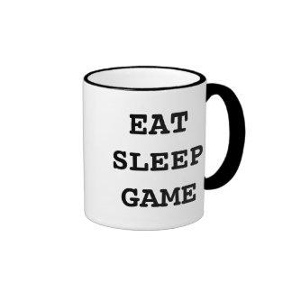 Eat sleep game coffee mug for computer gamers