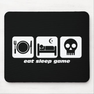 Eat sleep game mouse pad