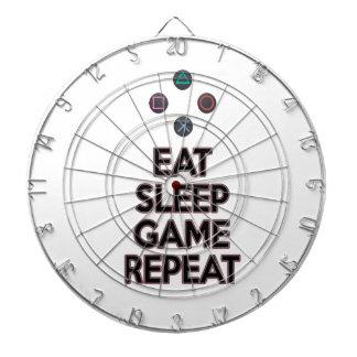 Eat sleep game repeat dart board