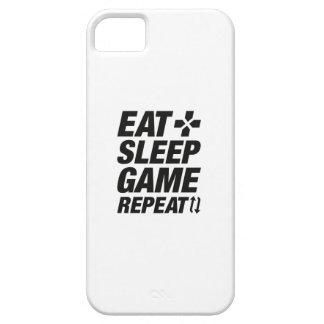 Eat Sleep Game Repeat iPhone 5 Case