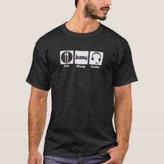 Eat Sleep Game White Logo T-Shirt