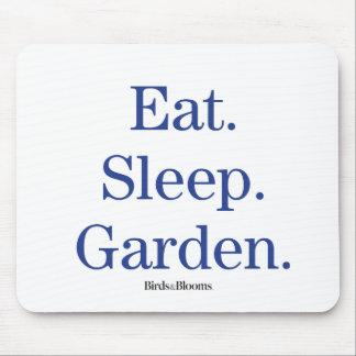 Eat. Sleep. Garden. Mouse Pad