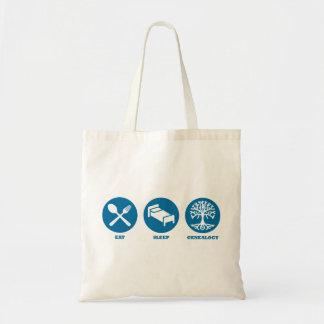 Eat Sleep Genealogy Tote Bag