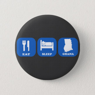 Eat Sleep Ghana 6 Cm Round Badge